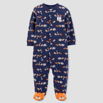 Baby Boys' Safari Sleep N' Play - Just One You® made by carter's Navy Baby