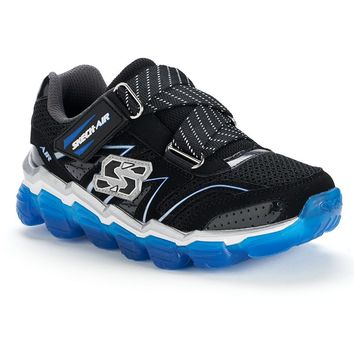 Skechers Skech-Air Boys' Athletic Shoes (Black Blue)