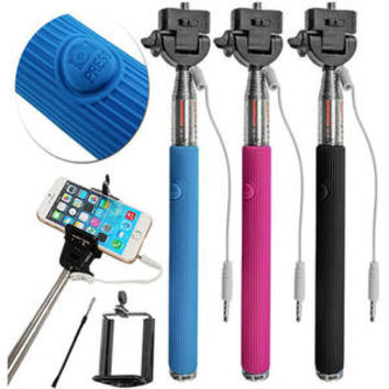 "Walmart: Carco Selfie Go Sticks Wired Shutter 42"" Selfie Stick for Apple & Android, Assorted Colors"