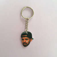 Crying Tear Drake Keychain