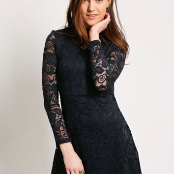 Cheers to You Lace Mockneck Dress