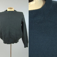 Filson Wool Sweater Crewneck Evergreen Pullover Mens Small