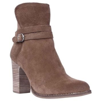 Lucky Brand Latonya Block Heel Ankle Boots, Honey, 9.5 US / 39.5 EU