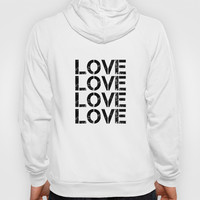 LOVE 1 Hoody by White Print Design
