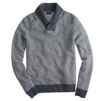 J.Crew Mens Lambswool Shawl-Collar Sweatshirt