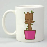 baby groo dancing guardian on the galaxy design for mug, ceramic, awesome, good,amazing