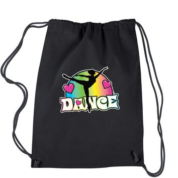 Dance Neon Drawstring Backpack
