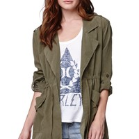 LA Hearts Drapey Military Jacket - Womens Jacket