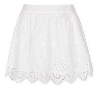 Petite Cream Cutout Lace Skater Skirt - Railroad - Clothing - Topshop USA