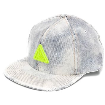 Bleached Denim Neon Patch Hat by OFF-WHITE