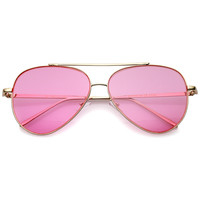 Retro Pantone Color Flat Lens Aviator Sunglasses - Shop Jeen - powered by Hingeto