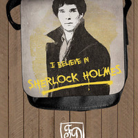 i believe in SHERLOCK HOLMES - shoulder bag