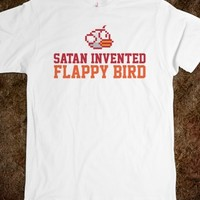 Funny 'Satan Invented Flappy Bird' T-Shirt