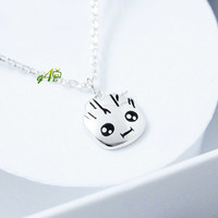 Baby Groot necklace (925 Sterling Silver)