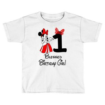 1 blessed birthday girl Toddler T-shirt