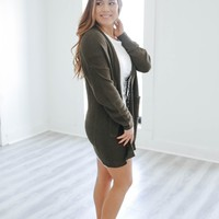 Easy Does It Cardigan - Olive