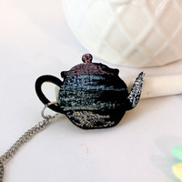 Teapot Chalkboard Necklace