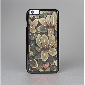 The Vintage Green Pastel Flower pattern Skin-Sert for the Apple iPhone 6 Skin-Sert Case
