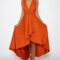 Sippin On Fire Dress - Burnt Orange