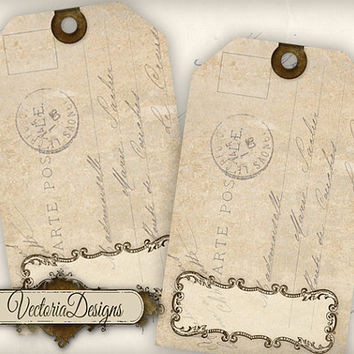 INSTANT DOWNLOAD Blank Tags instant download printable gift tags digital Collage Sheet 359