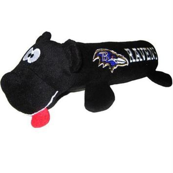 DCCKGW6 Baltimore Ravens Plush Tube Pet Toy