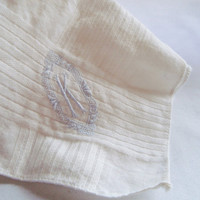 Vintage Embroidered M, K, T, and F Handkerchiefs