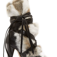 Isabel Marant Black Leather And Fur Pietra Boots