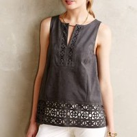 Sliced Vegan Suede Tank by HD in Paris Dark Grey