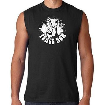 Yoga Clothing for You Mens Peace Now Sleeveless Muscle Tee Shirt