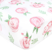 Cotton Fitted Crib Sheet - Grace