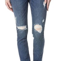 DCCKAB3 Miss Me Dark Blue Distressed High Rise Skinny Jeans