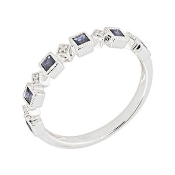 Bony Levy Stackable Diamond & Sapphire Band Ring (Nordstrom Exclusive) | Nordstrom