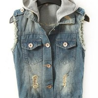 Detachable Cap Cowboy Vest $39.00