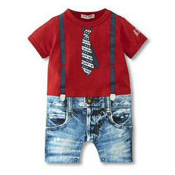 Baby Boy Clothes 2017 Summer Baby Rompers Cotton Newborn Baby Clothes  Baby Boy Clothing Sets Roupa Bebes Infant Jumpsuits