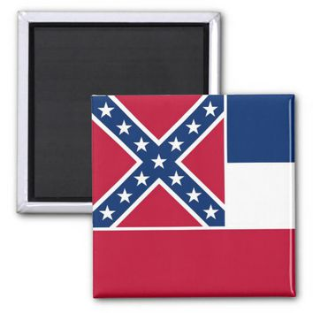 Magnet with Flag of Mississippi State - USA