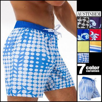 Austinbem Mens Shorts Surf Board Shorts Summer Sport Beach Homme Bermuda Short Pant  Men's Swimming Short 30205