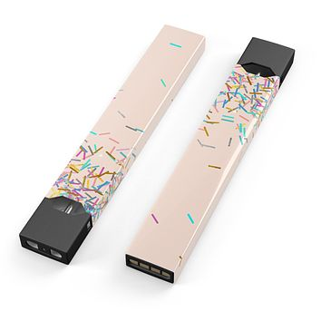 Skin Decal Kit for the Pax JUUL - Colorful Candy Sticks Over Apricot