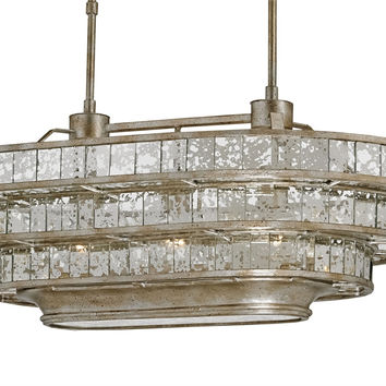 Currey Company Frappé Oval Chandelier