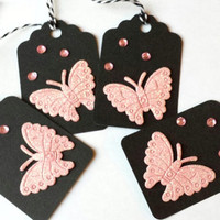 Glitter Butterfly Gift Tags