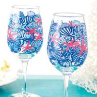 Acrylic Wine Glass Set - Lilly Pulitzer