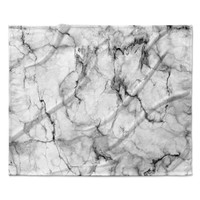 "Chelsea Victoria ""Marble No 2 "" Black Modern Fleece Throw Blanket"