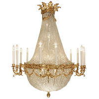 French 19th century Louis XVI st. Baccarat crystal and ormolu chandelier
