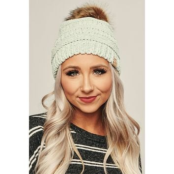 Minty Fresh Knitted Beanie (Mint)