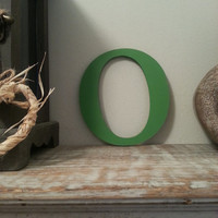 Handpainted Wooden Wall Letter  o  New Times by LoveLettersMe