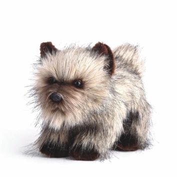 Lifelike Cairn Terrier Stuffed Animal by Nat and Jules