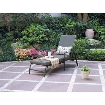 Mainstays Chaise Patio Lounge Gray Chair