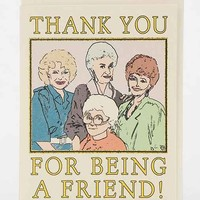 Seas And Peas Golden Girls Thank You Card