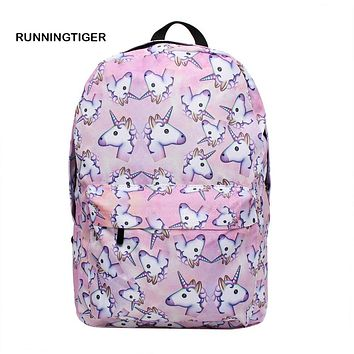 Women Backpack Unicorn Backpack space High Quality Travel Softback schoolbags backpacks for teenage girls mochila feminina
