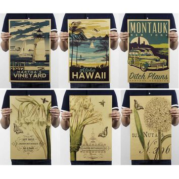 Retro Travel and Lithograph Style Wall Art Prints