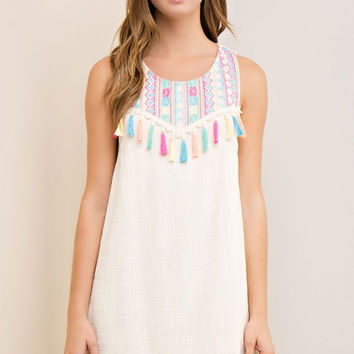 Tassel Dress - Natural